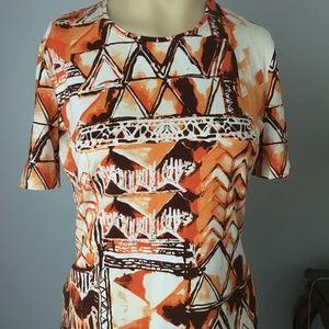 Escada Orange cotton T-shirt Size: 6 (S), mint